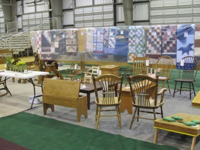 Blankets Tables and Chairs